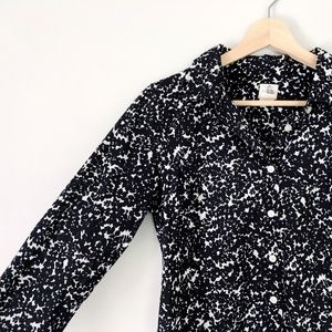 J. Crew Black & White Button Down Long Sleeve
